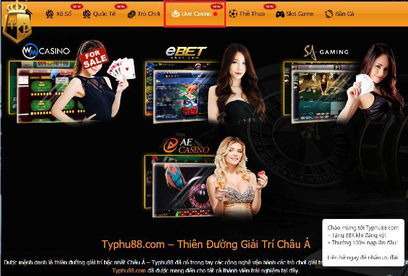 Casino Online là trang trực tiếp game lớn tại typhu88