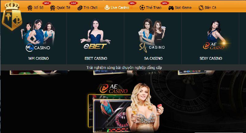 Các sảnh Casino phổ biến trong trực tiếp game